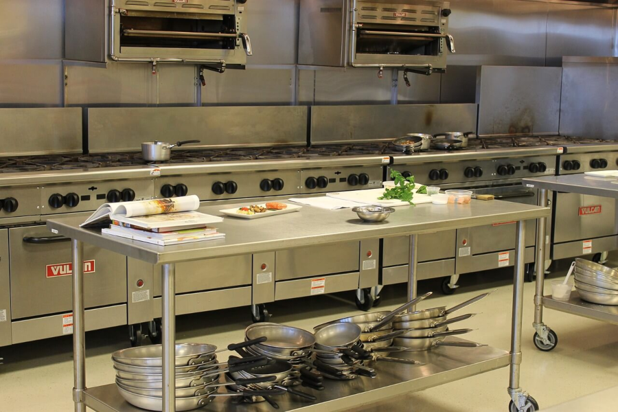 commercial kitchen shared space